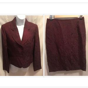 Size 6 Tahari Blazer & Skirt Set